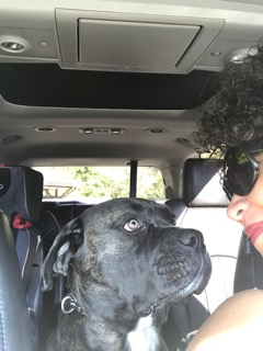 Ali with Hope_dog