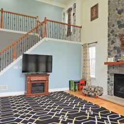 Family Room with Cathedral Ceilings